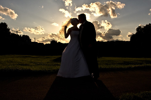 Bride and Groom - Sunset Silhouette | by curtisWarwick