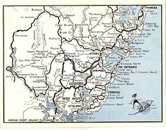 Central Coast NSW holiday coast map circa 1960s | 1960s map … | Flickr