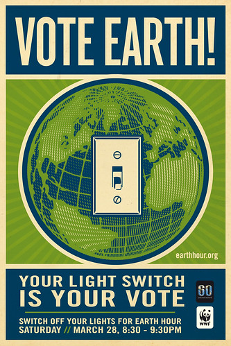 Vote Earth! Switch Off Your Lights For Earth Hour by Shepard Fairey | by Earth Hour Global