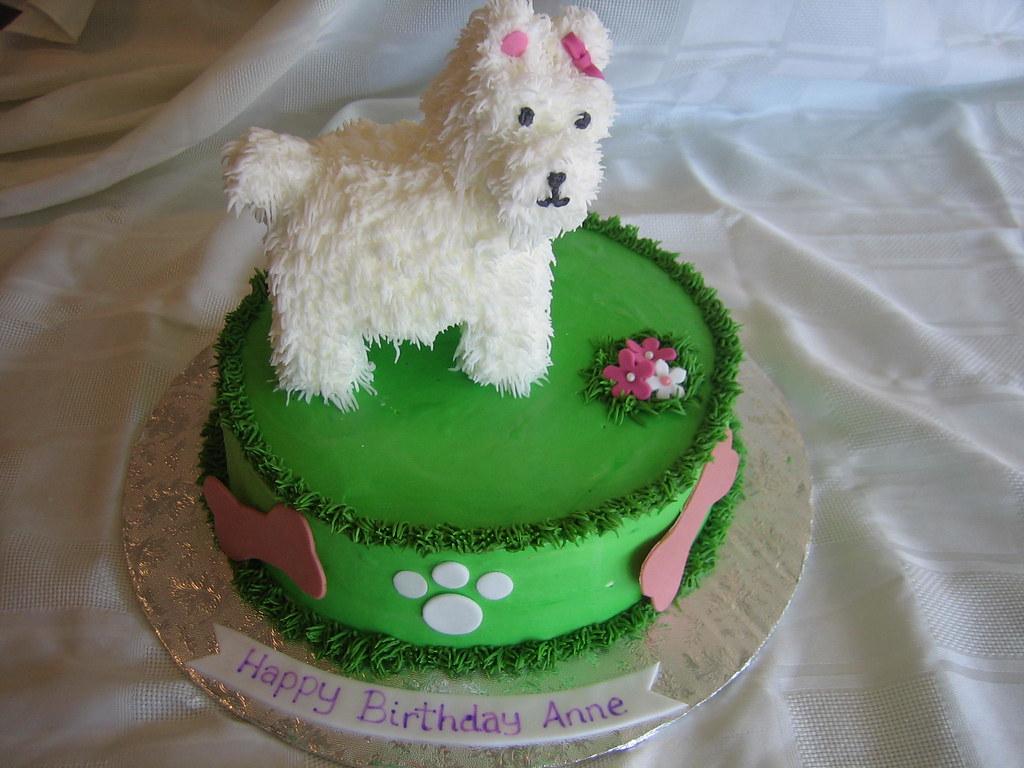 Dog Birthday Cake Dog Birthday Cake With Fondant Flowers Flickr