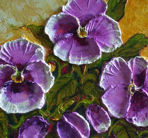 How To Paint Pansies In Oil