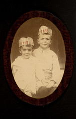Two boys wearing American flag hats | by George Eastman Museum