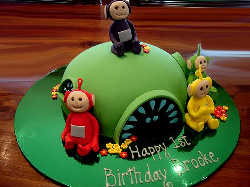 Fine Teletubbies Birthday Cake The Cake Was Chocolate Mud With Flickr Birthday Cards Printable Nowaargucafe Filternl