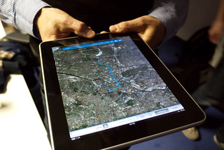 google maps on @tlossen's ipad | by fronx
