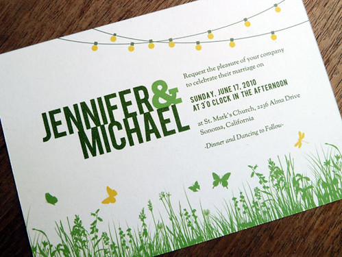 Printable Wedding Invitation - Garden Party | by e.m.papers