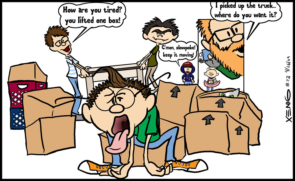 Moving day cartoon
