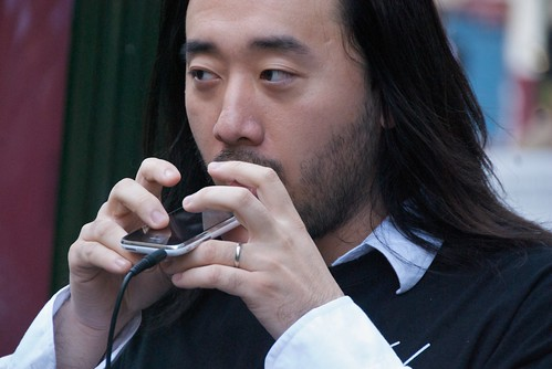 Ge Wang playing Star Wars theme using Ocarina on his iPhone | by Steve Rhodes