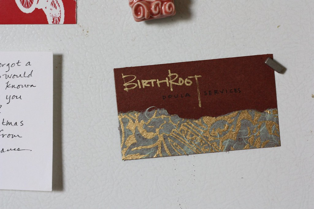 Doula Business Card She Made This Herself She Dabbles In Flickr