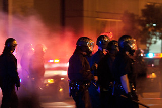 Police Move Into Crowd After Firing Tear Gas, Oakland Riots | by Thomas Hawk