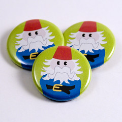 Gunther the Gnome pinback buttons | by jnhkrawczyk