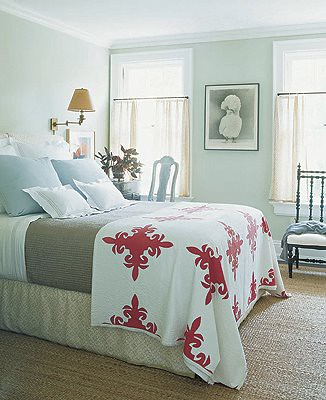 Delicieux ... Pale Green Bedroom: Hamptons Home By Jeffrey Bilhuber, From Elle Decor:  U0027Hancock
