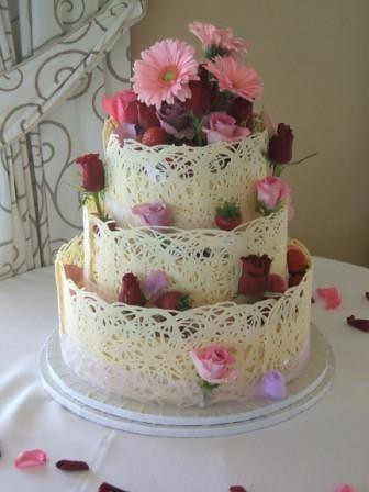 White Chocolate 3 Tier With Full Lace Collar Angie Boyd