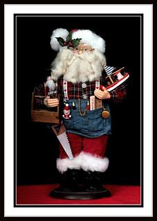 Woodworking Santa