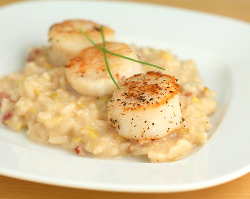 Scallops and Leek Risotto | by Nook & Pantry