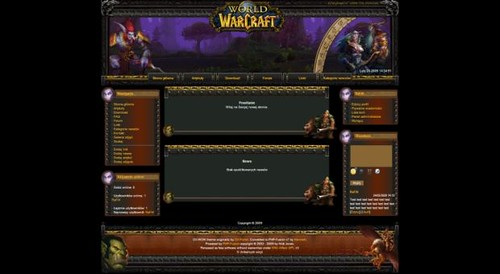 Free World of Warcraft Web2.0 php-fusion Theme Template | Flickr