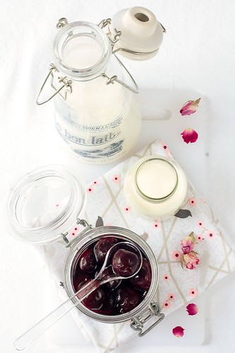 Making Cherry Rose Coconut Ice Cream   That milk bottle ...