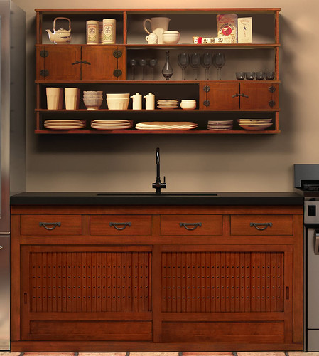 Greentea design custom kitchens tansu more a very for Japanese style kitchen design