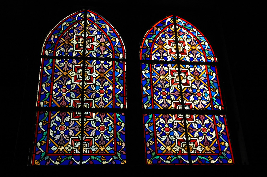 Stained Glass Windows Inglesia Santa Barbara De Rosalia Designed By Gustave Eiffel