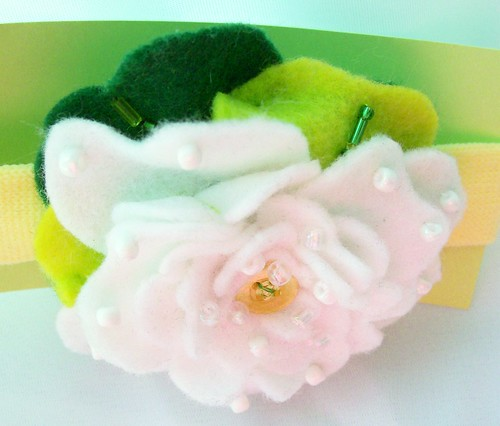 felt Peony headband top | by Beyond.the.Box