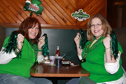 Terri and tracy at mitchell 39 s st patrick 39 s day parade for Mitchell s fish market pittsburgh