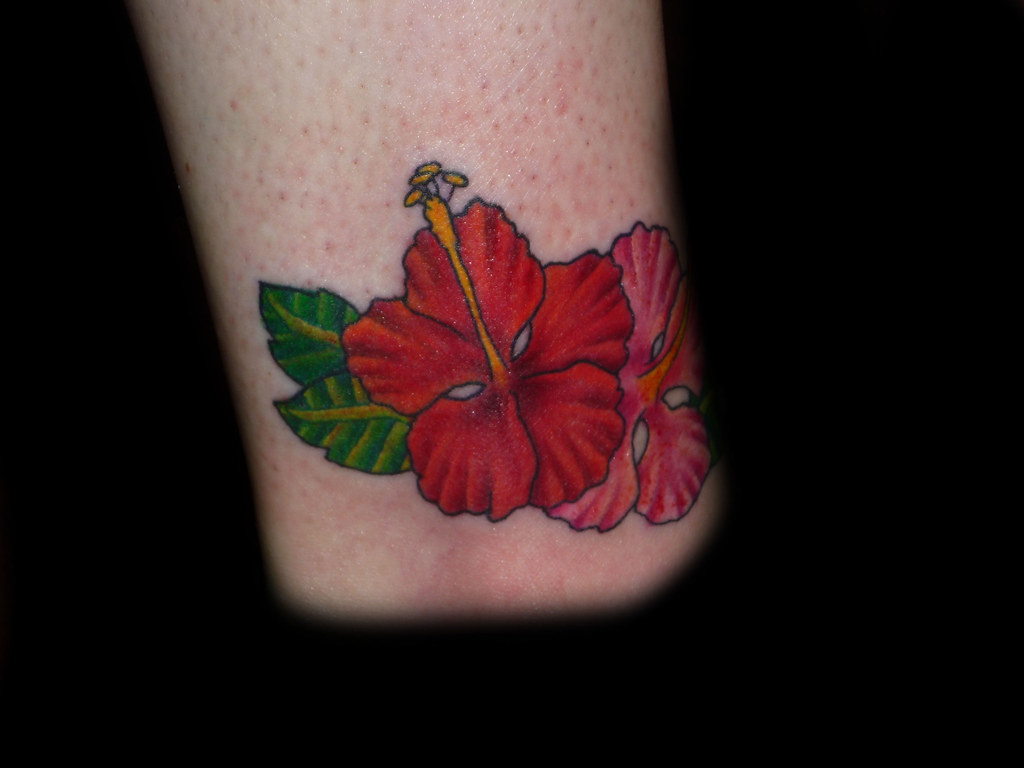 Hibiscus Flower On Ankle This Hibiscus Flower Tattoo Was D Flickr