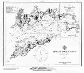 Fisher's Island Sound / Issued July 1877 Carlile P. Patterson, Superintendent. | by uconnlibrarymagic