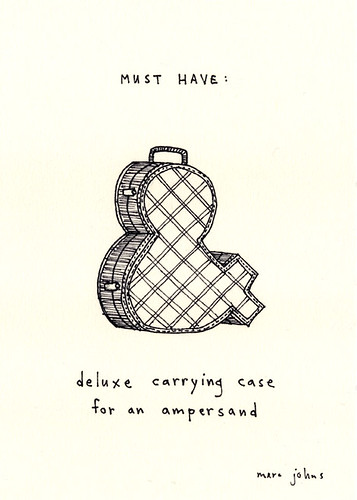 MUST HAVE: deluxe carrying case for an ampersand | by Marc Johns