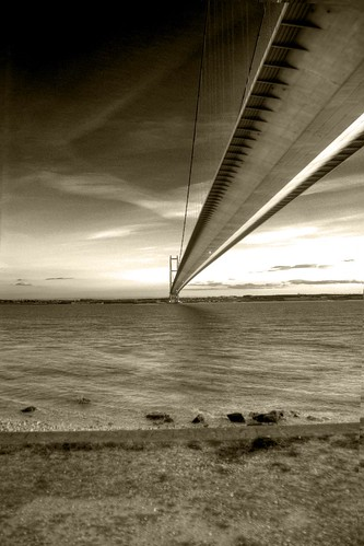 Humber Bridge | HDR | B&W | by martyncoup