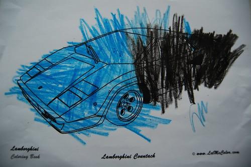 Lamborghini Countach Coloring Pages