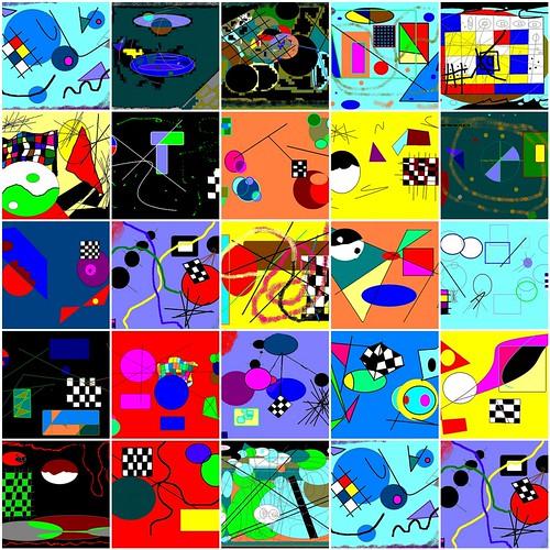 Kinder malen Kandinsky  1. Stro Malt Kandinsky, 2. Steven ...