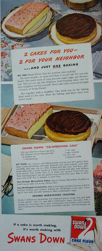 swans down cake flour swans flour ad with recipe for quot swans co operati 7855