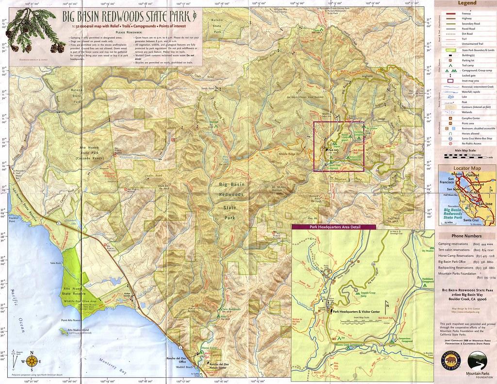 Big Basin Trail Map | stusf98 | Flickr