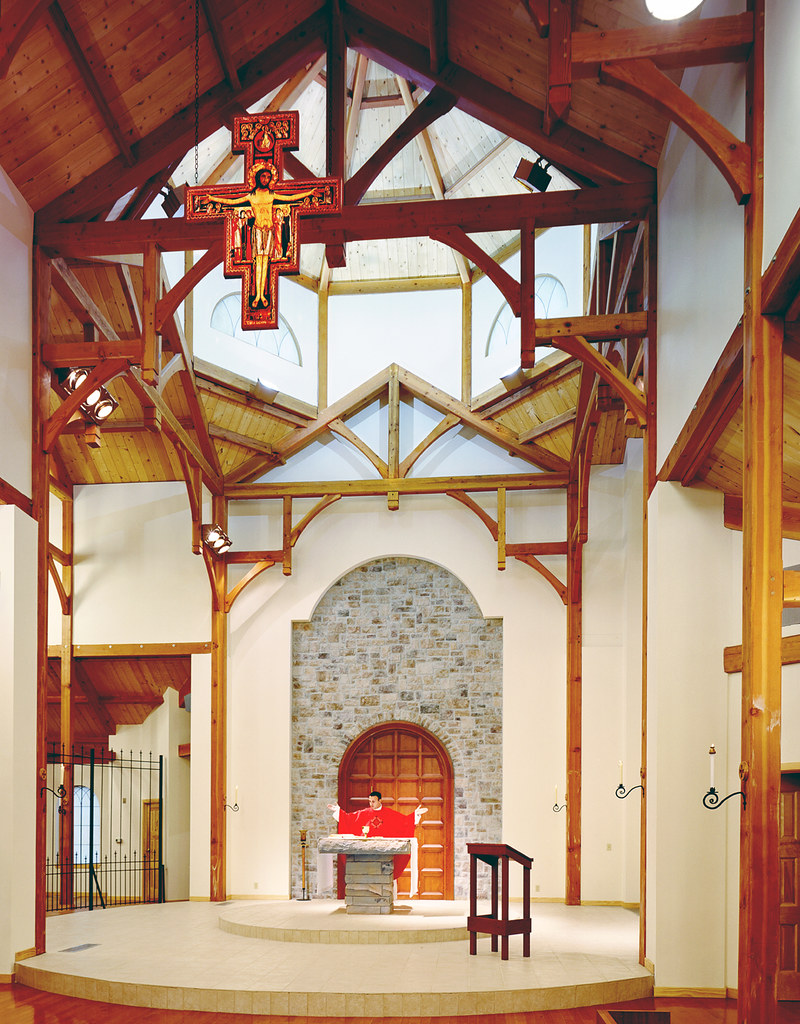 Timber Frame Church | www vermonttimberworks com | Vermont