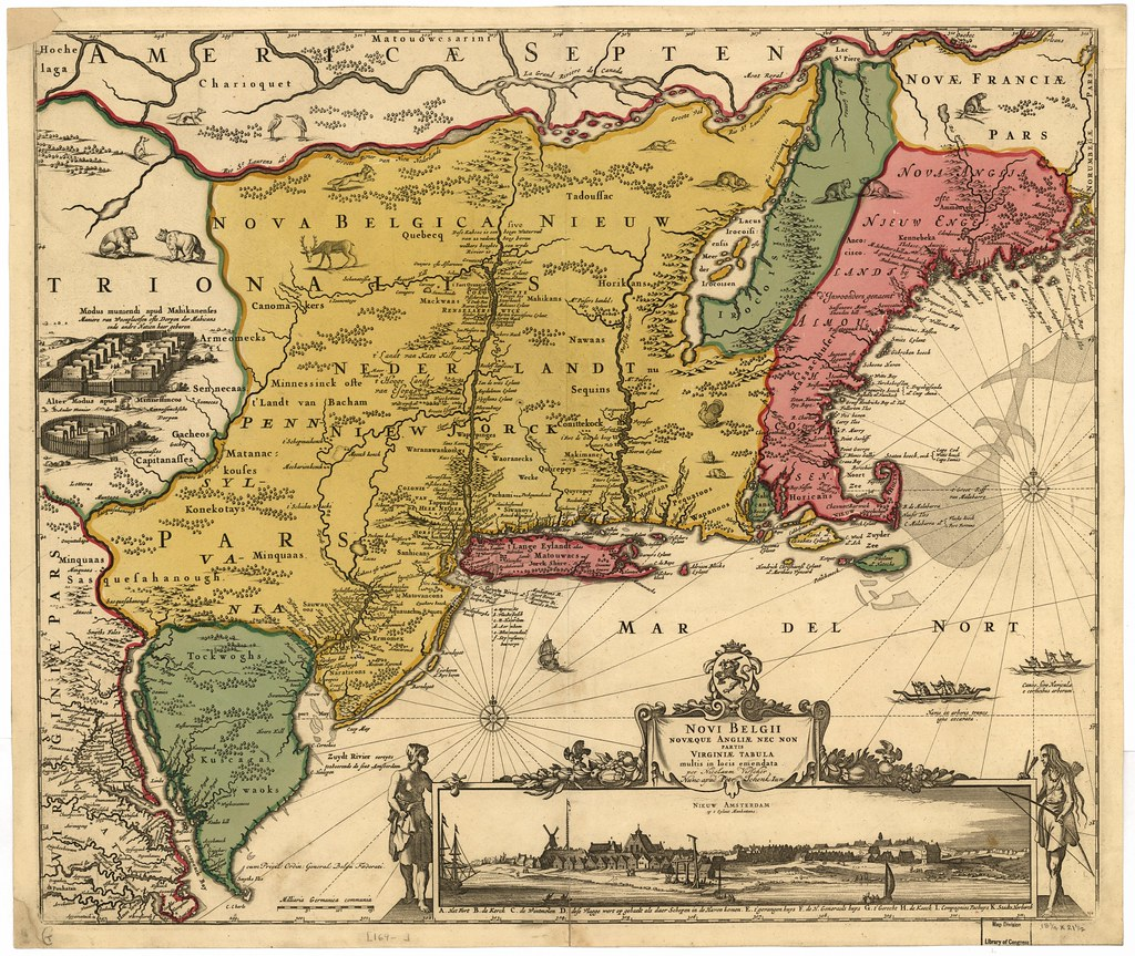 ... uconnlibrarymagic Detailed historical map of Atlantic States - 1685 |  by uconnlibrarymagic