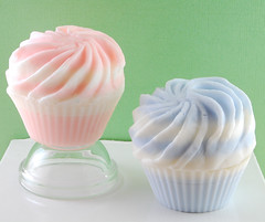Baby Girl Pink & Baby Boy Blue Cupcake Soap | by Lisa Asil