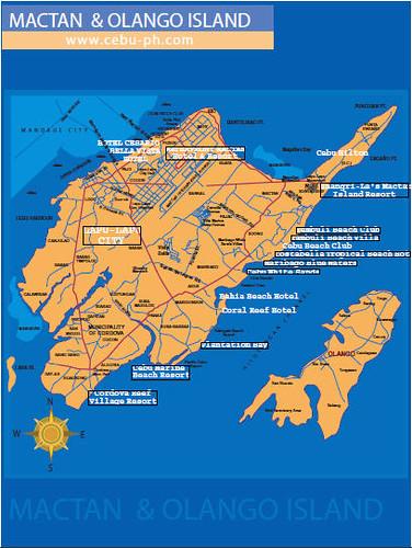 Map Of Mactan Island Cebu