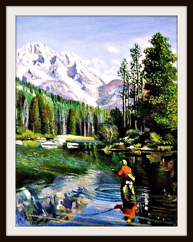 The Fisherman - Oil Painting by snc145 - Photo by snc145 | by snc145