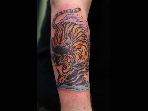 Tiger tattoo jae connor for Electric lotus tattoo