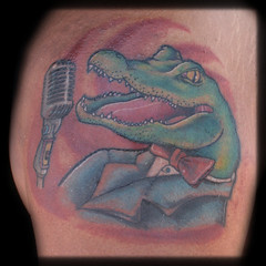 Tattoo singing aligator | by Jason Kilgore