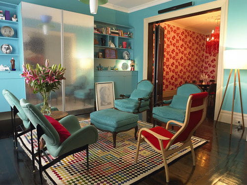 Genial ... Red And Blue Living Room | By The Sugar Monster