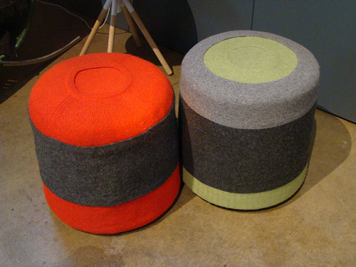 Recycled Sweater Stools | by Inhabitat