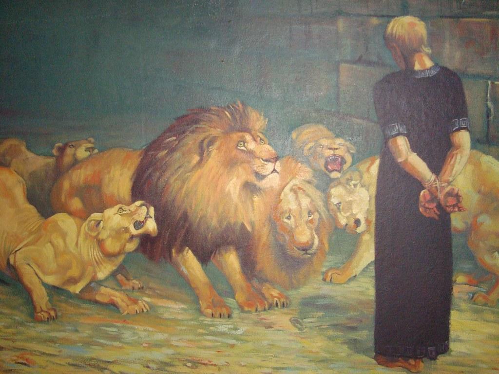 Daniel na cova dos leões. quadro teteus seixas flickr