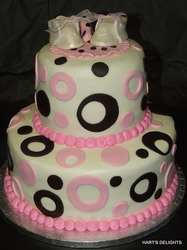 Pink And Chocolate Brown Baby Shower Cake This Is A 10