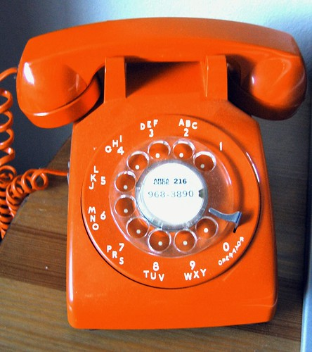 orange rotary phone redgiantsfan flickr. Black Bedroom Furniture Sets. Home Design Ideas
