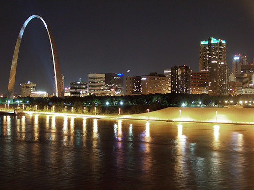 Downtown St. Louis at Night | by philontheweb2001