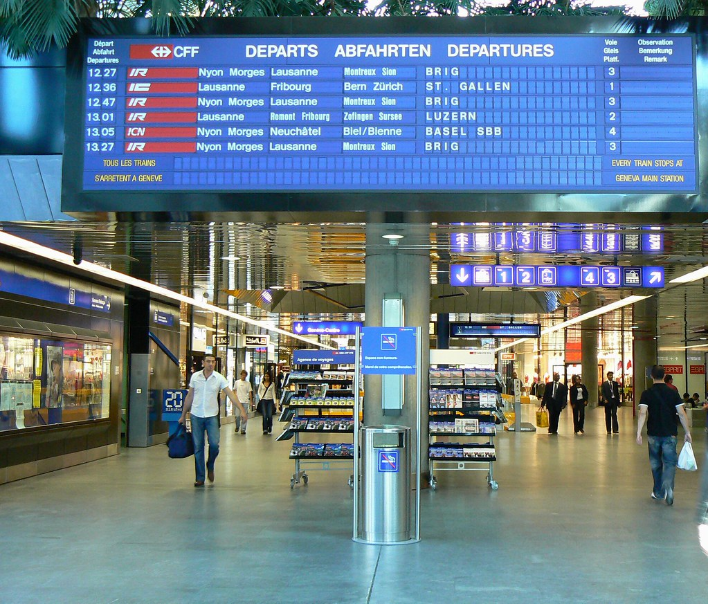 Image result for aeroport geneve gare cff