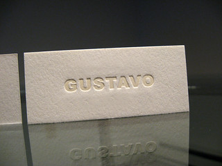 Gustavo Letterpress Business Cards | by dolcepress