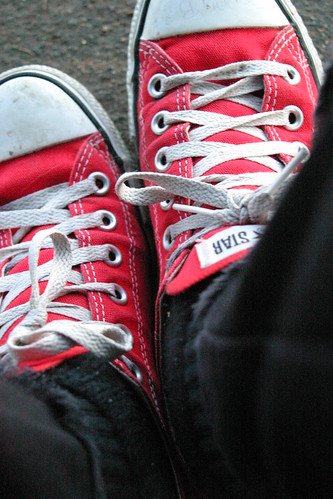 Converse Shoes Red And White