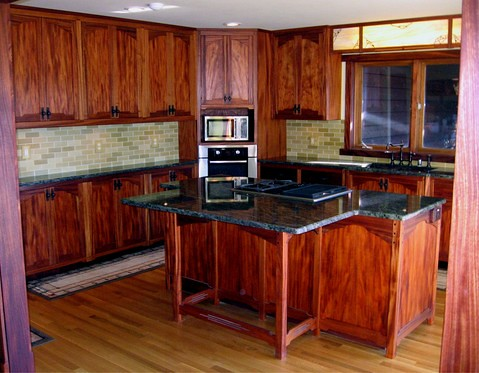 Mahogany Kitchen Cabinets Color Schemea