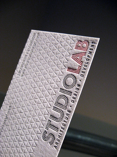 Studio Lab Letterpress Business Cards - Logo Closeup | by dolcepress